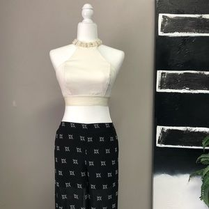 Love Tree Wide Leg Pants with Attached Shorts